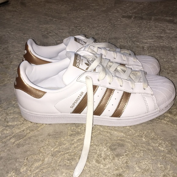 adidas superstar or rose